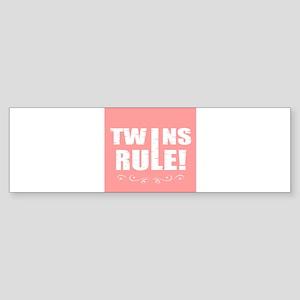twins pink Bumper Sticker