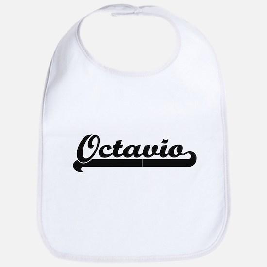 Octavio Classic Retro Name Design Bib