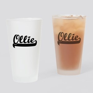 Ollie Classic Retro Name Design Drinking Glass