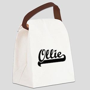 Ollie Classic Retro Name Design Canvas Lunch Bag