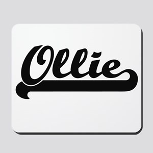 Ollie Classic Retro Name Design Mousepad
