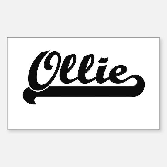 Ollie Classic Retro Name Design Bumper Stickers