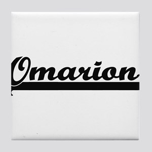Omarion Classic Retro Name Design Tile Coaster