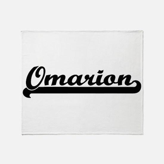 Omarion Classic Retro Name Design Throw Blanket