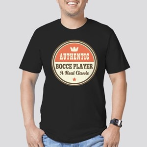 Bocce Player Funny Vin Men's Fitted T-Shirt (dark)