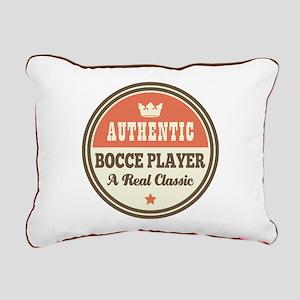 Bocce Player Funny Vinta Rectangular Canvas Pillow