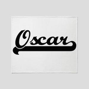 Oscar Classic Retro Name Design Throw Blanket