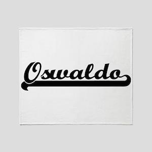 Oswaldo Classic Retro Name Design Throw Blanket
