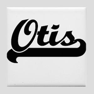 Otis Classic Retro Name Design Tile Coaster