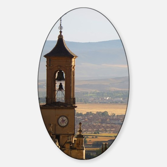 Granada Old Town Sticker (Oval)