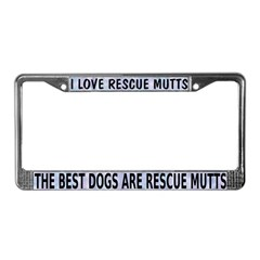 The Best Mutts Are Rescues (blue) License Plate Fr