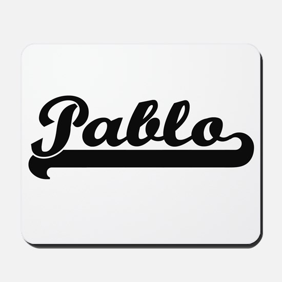 Pablo Classic Retro Name Design Mousepad