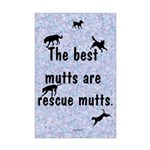 The Best Mutts Are Rescues (blue) Mini Poster Prin