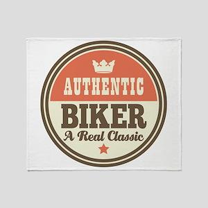 Biker Funny Vintage Throw Blanket