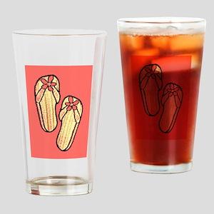 Yellow Flip Flops Drinking Glass