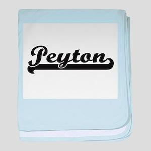 Peyton Classic Retro Name Design baby blanket