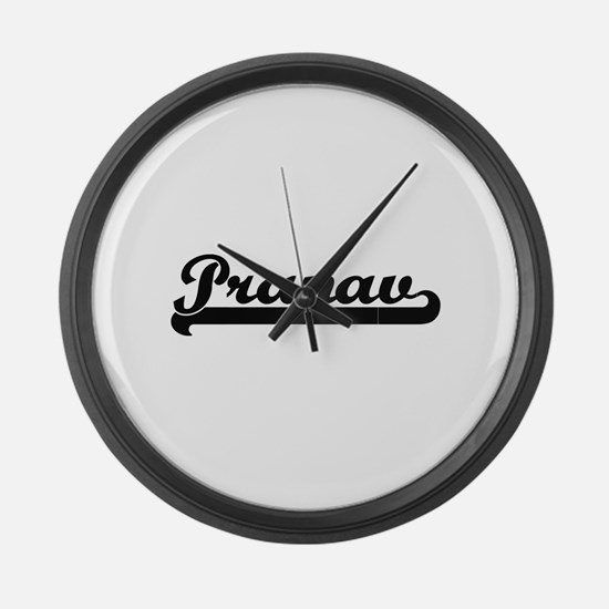 Pranav Classic Retro Name Design Large Wall Clock