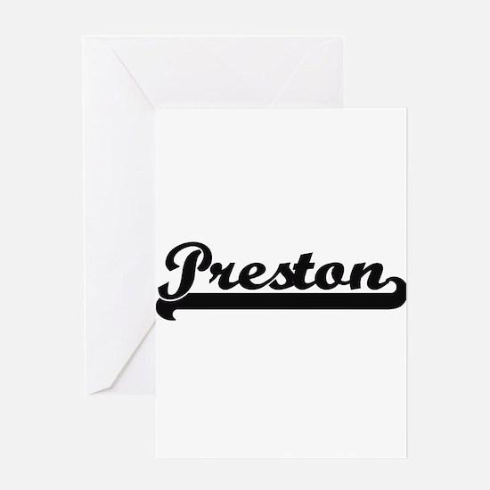 Preston Classic Retro Name Design Greeting Cards