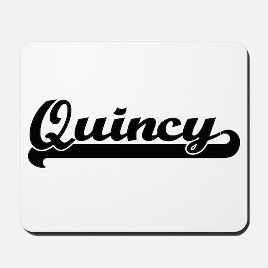 Quincy Classic Retro Name Design Mousepad
