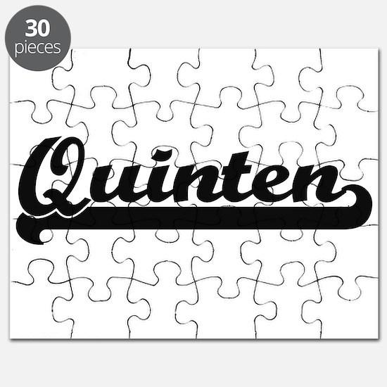 Quinten Classic Retro Name Design Puzzle