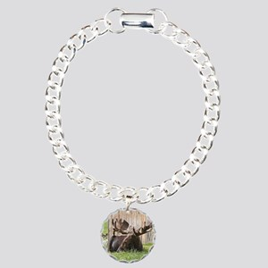Sitting Moose Alaska U Charm Bracelet One