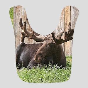 Sitting moose, Alaska, USA Bib