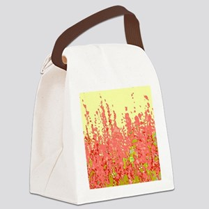 Impression Of Flowers Canvas Lunch Bag