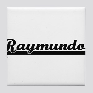 Raymundo Classic Retro Name Design Tile Coaster