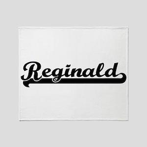 Reginald Classic Retro Name Design Throw Blanket