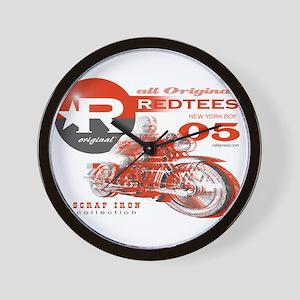 """""""Redtees Retro Motorcycle"""" Wall Clock"""