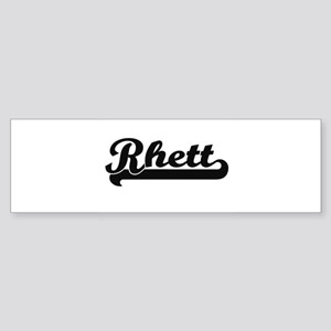 Rhett Classic Retro Name Design Bumper Sticker