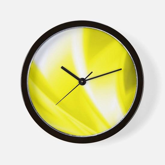 Yellow Flush Wall Clock