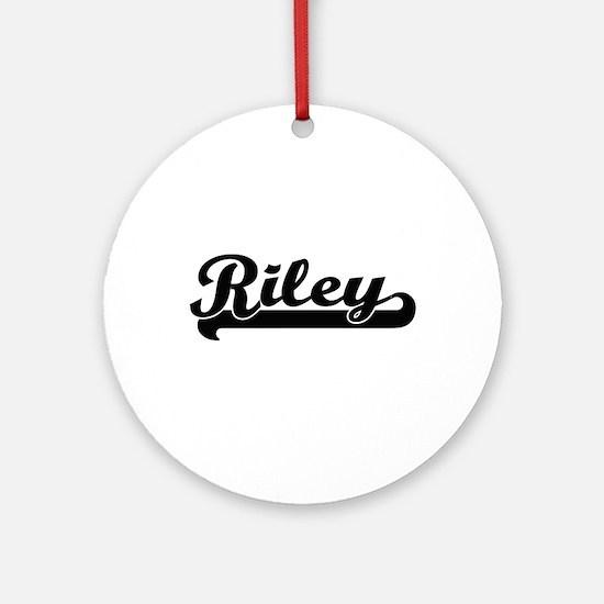 Riley Classic Retro Name Design Ornament (Round)