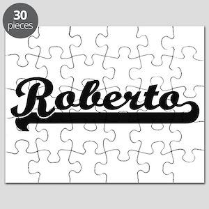 Roberto Classic Retro Name Design Puzzle