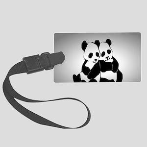Panda Bear Large Luggage Tag