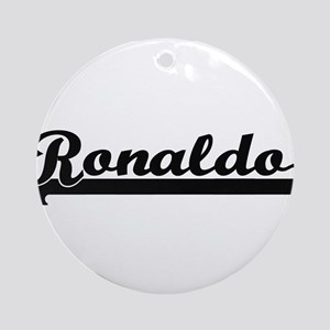 Ronaldo Classic Retro Name Design Ornament (Round)
