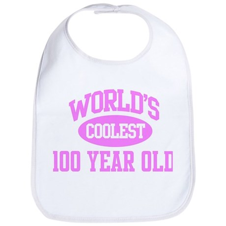 Coolest 100 Year Old Bib