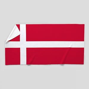 Flag of Denmark Beach Towel