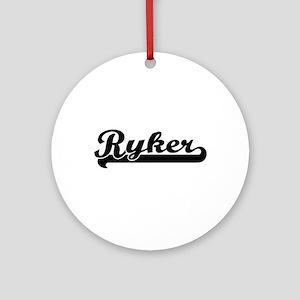 Ryker Classic Retro Name Design Ornament (Round)