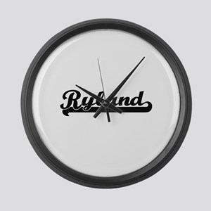 Ryland Classic Retro Name Design Large Wall Clock