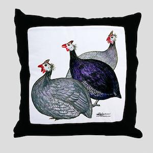 Guineas Three Throw Pillow