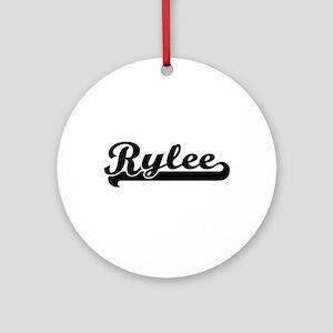 Rylee Classic Retro Name Design Ornament (Round)