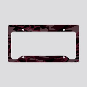 Brick Red Camo License Plate Holder