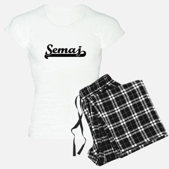 Semaj Classic Retro Name De Pajamas