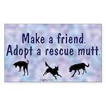 Make a Friend (blue) Rectangle Sticker