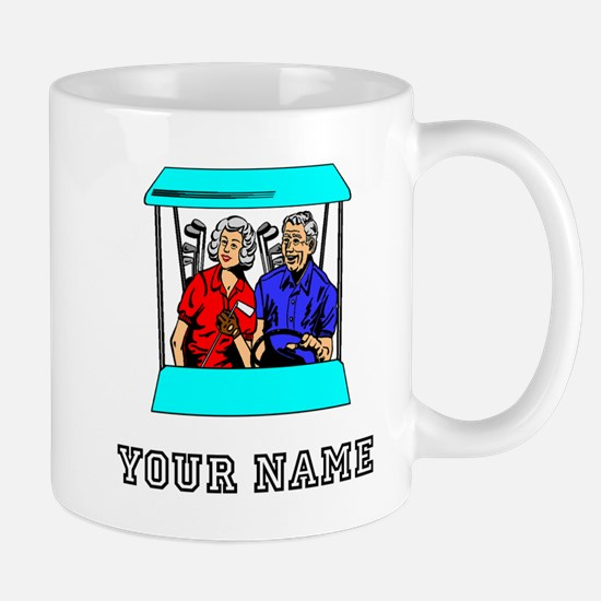 Golf Couple (Add Name) Mugs