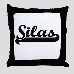 Silas Classic Retro Name Design Throw Pillow