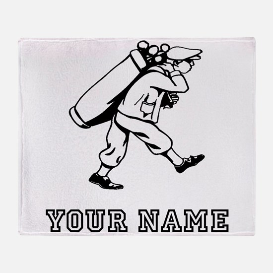 Golf Caddy (Add Name) Throw Blanket
