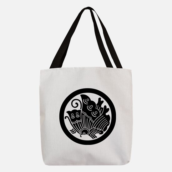 Ageha butterfly in circle Polyester Tote Bag