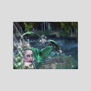 Mermaid Cavern 5'x7'Area Rug